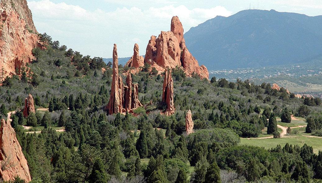 Парк Сад богов в Колорадо-Спрингс