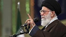 Верховный лидер Ирана Али Хаменеи выступает в Тегеране. 14 апреля 2018