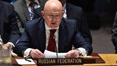 Постпред РФ при ООН Василий Небензя на заседании Совета Безопасности ООН. Архивное фото