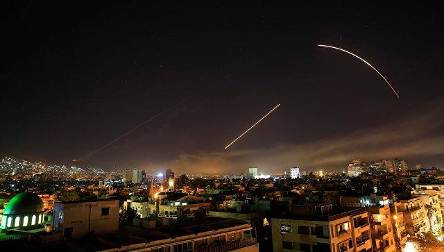 Удар коалиции в Дамаске, Сирия. 14 апреля 2018 года