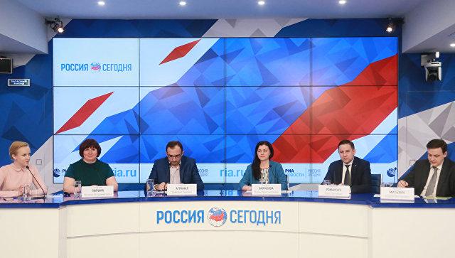 Участники пресс-конференции на тему: Приемная кампания – 2018: что ждет абитуриента в ММПЦ МИА Россия Сегодня