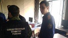 Сотрудники СК на месте пожара в школе №1 Стерлитамака. 18 апреля 2018