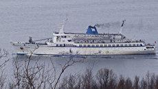 Судно Клавдия Еланская в гавани Мурманска. Архивное фото