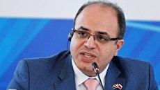 Министр экономики и внешней торговли Сирии Самер аль-Халиль на Ялтинском международном экономическом форуме в Крыму. 21 апреля 2018