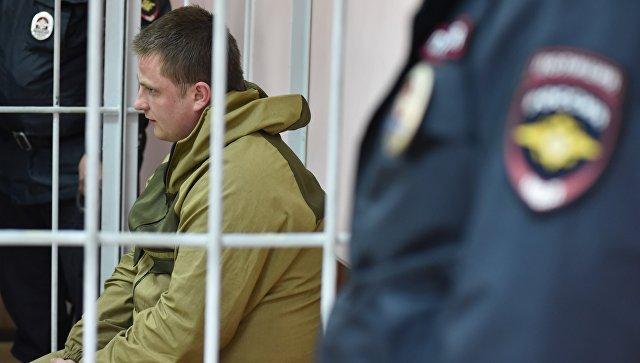 Владимир Аникин, обвиняемый в хищении сурдобарокамеры, в Хорошевском районном суде. 20 апреля 2018