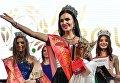 Победительница конкурса красоты «Российская красавица — 2018» Ирина Сафронова на церемонии награждения в отеле Корстон в Москве