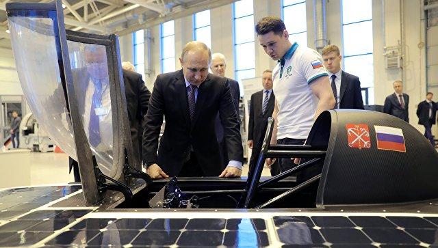 Путин может лично оценить 1-ый  русский  «солнцемобиль»