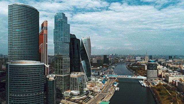 Здания Московского международного делового центра Москва-Сити в Москве