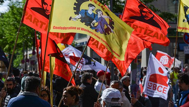 Участники демонстрации в Берлине. Архивное фото