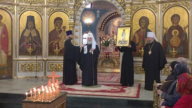 Патриарх Кирилл передал в дар Знаменскому кафедральному собору Кемерово икону мученика-младенца Гавриила Белостокского