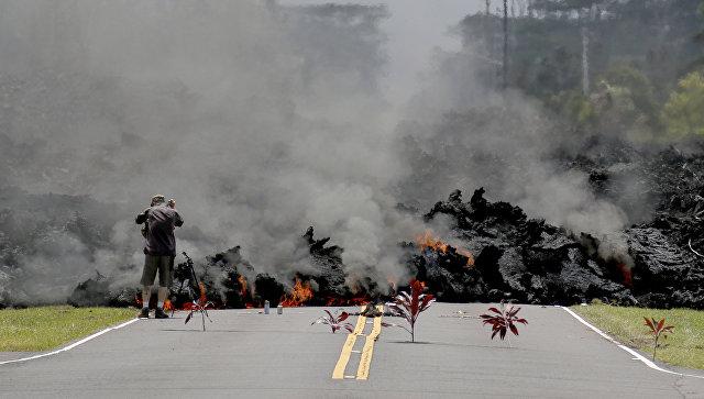Извержение вулкана Килауэа наГавайских островах уничтожило 87 домов