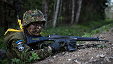 Солдат эстонской армии. Архивное фото