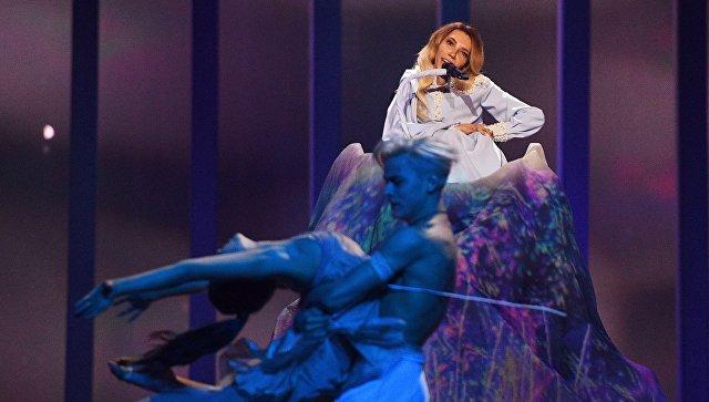 Певица Юлия Самойлова на конкурсе Евровидение-2018