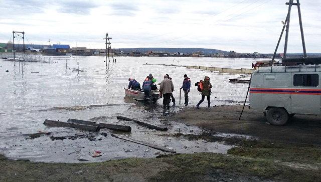 Паводковая ситуация в Амгинском районе Республики Саха (Якутия). Архивное фото