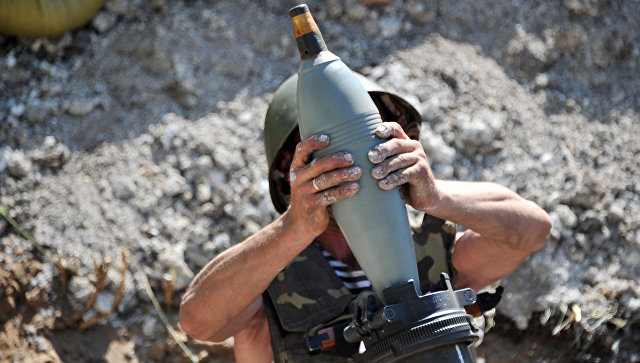 На Украине смоделировали минометный обстрел здания Рады