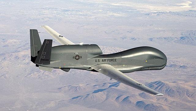 Американский стратегический разведывательный БПЛА RQ-4 Global Hawk. Архивное фото