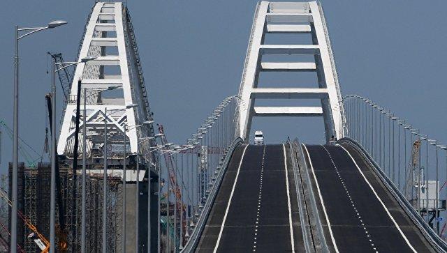 Открытие автомобильной части Крымского моста. Архивное фото