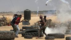 Акция протеста на границе между Израилем и сектором Газа. 15 мая 2018