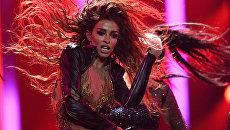Фналистка международного конкурса Евровидение-2018 Элени Фурейра (Кипр) во время выступления