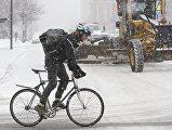 Велосипедист в Монреале