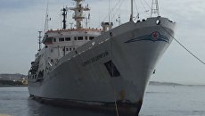 Прибытие судна Адмирал Владимирский в порт Мессина на Сицилии