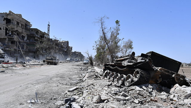 Разрушенные здания, Сирия. Архивное фото