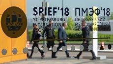 Участники Петербургского международного экономического форума. 24 мая 2018