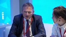 Борис Титов на стенде Международного информационного агентства Россия сегодня на Петербургском международном экономическом форуме 2018