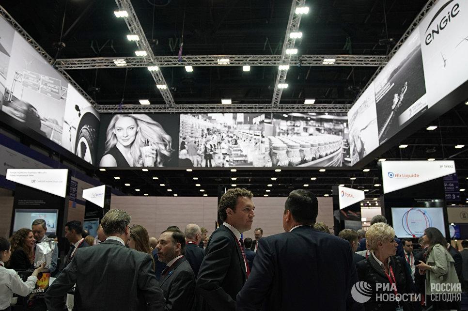 Стенд Франции на Петербургском международном экономическом форуме