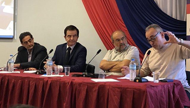 Мероприятие по гречески-российским отношениям в Афинах. 26 мая 2018