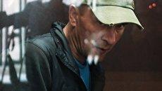 Подозреваемый в порче картины Ильи Репина Ивана Грозного и его сына в Третьяковской галерее Игорь Подпорин на заседании Замоскворецкого районного суда Москвы. 26 мая 2018