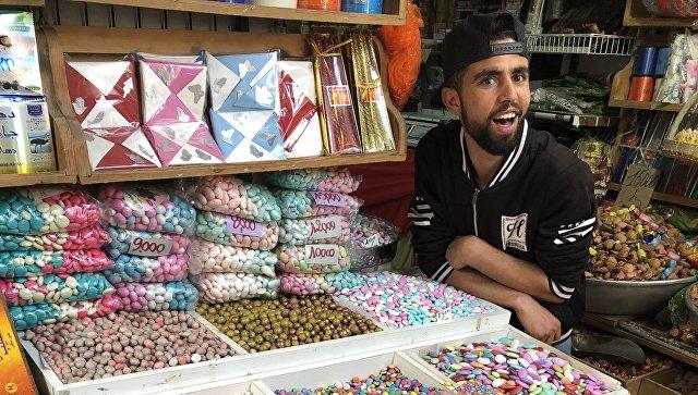 Восточный базар в городе Сус, Тунис