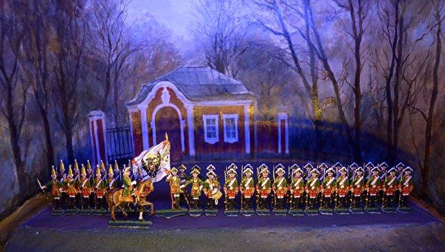 Экспозиция в музее оловянного солдатика в Санкт-Петербурге