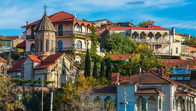 Город Тбилиси, Грузия. Архивное фото