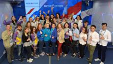 Участники Большого фестиваля добровольцев в МИА Россия сегодня