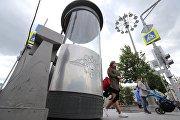 Новый пост ГАИ на Театральной площади в Москве
