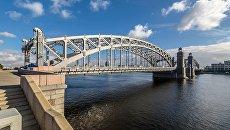 Большеохтинский мост в Санкт-Петербурге. Архивное фото