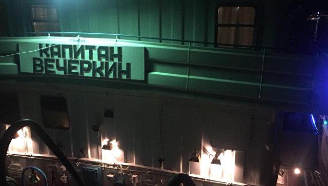 Сухогруз Капитан Вечеркин, столкнувшийся с катамароном в Волгограде. 12 июня 2018