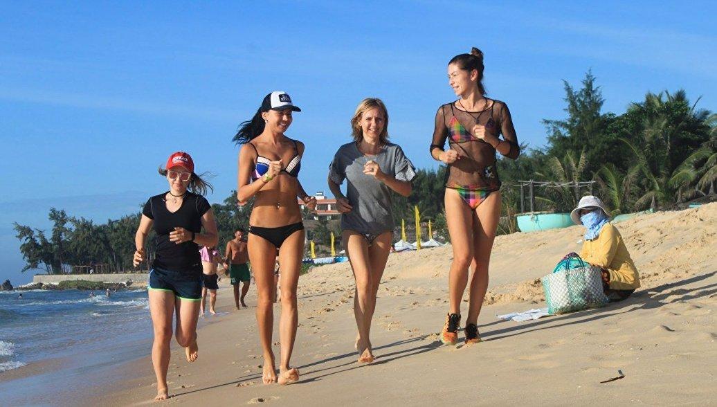 Девушки на пробежке