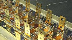Сборка микрочипов для модуля биполярного транзистора с изолированным затвором IGBT в опытно-экспериментальном цехе по производству мощных диодов и теристеров Саранского завода Электровыпрямитель