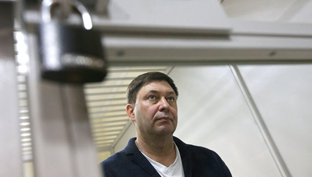 Руководитель портала РИА Новости Украина Кирилл Вышинский в суде
