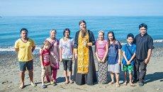 Крещение жительницы деревни Каюпо Маргариты