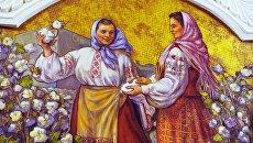 Мозаичное панно на станции московского метро Киевская