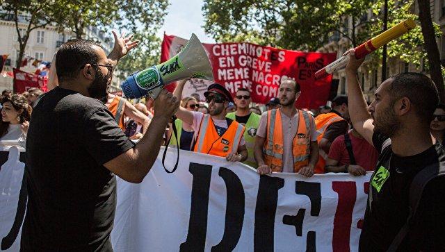 Участники акции протеста, Париж. Архивное фото