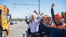 Сергей Собянин на открытии нового Крылатского моста. 2 июля 2018