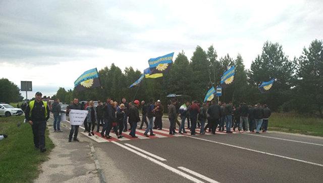 Во Львовской области шахтеры перекрыли международную трассу
