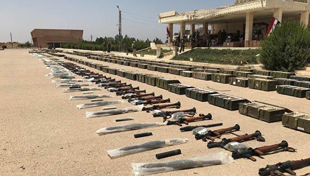 Боевики оставили боеприпасы и оружие. Архивное фото