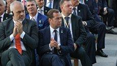 Председатель правительства РФ Дмитрий Медведев на торжественной церемонии инаугурации избранного президента Турецкой Республики Реджепа Тайипа Эрдогана в Анкаре. 9 июля 2018