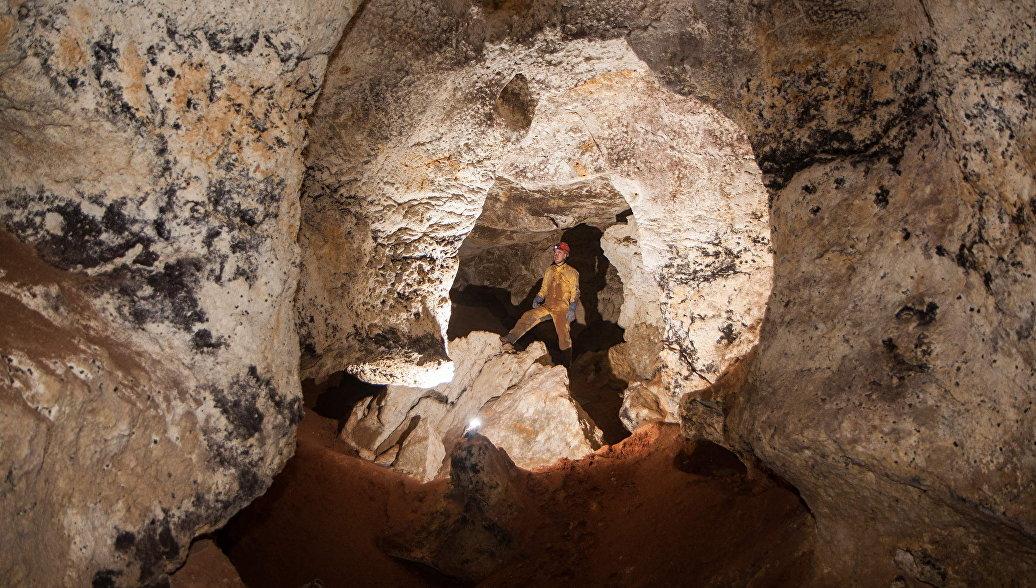 Пещера, найденная в районе пос. Зуя на месте строительства трассы Таврида