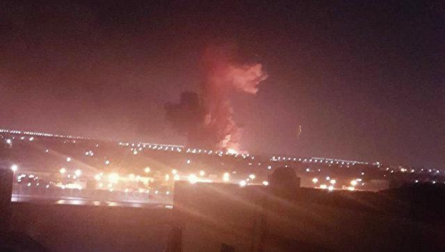Взрыв на химическом заводе компании Гелиополисв Каире в четверг, 12 июля 2018